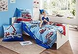 Kinderbutt Bettwäsche Renforcé hellblau Größe 135x200 cm (80x80 cm) -