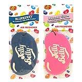 """Jelly Belly Auto-Lufterfrischer im Doppelpack mit 2D-Süßigkeitenduft –Heidelbeer- und Kaugummiduft (""""Blueberry"""" und """"Bubble Gum"""")"""