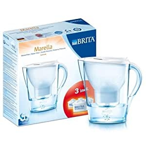 Brita 040147 Pack de démarrage - Marella Cool Blanc 2,4 L + 3 Cartouches Maxtra