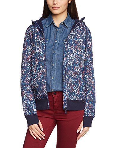Roxy, Felpa in pile Donna Top Resin, Blu (Color Fizz_ Peacoat), M