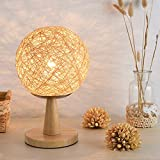 PHP Lighting Lámpara de tabla de la bola del cáñamo para el dormitorio - Best Reviews Guide