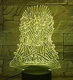 Drachentotem 3D Led Lichtspiel Vom Thron Souvenir Laser Gravierte Acryl Nachtlicht Lampe Mit 7 Farben Touch Fernbedienung Dec