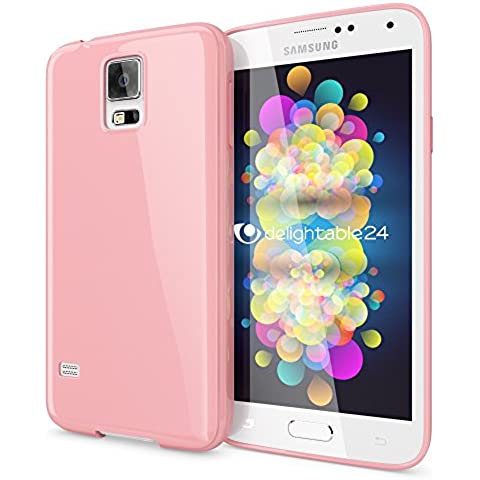 delightable24 Premium Schutzhülle Hülle TPU Silikon Jelly Cover Case Handyhülle SAMSUNG GALAXY S5 / S5 NEO Smartphone -