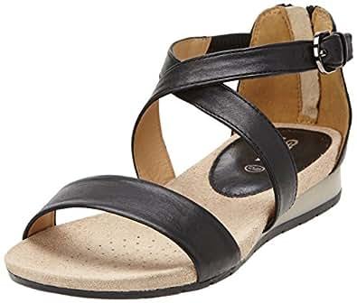 geox d formosa d sandales femme noir black 36 eu chaussures et sacs. Black Bedroom Furniture Sets. Home Design Ideas