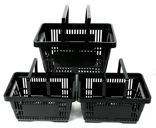 pack-of-10-plastic-2-handle-shopping-baskets-retail-shop-use-black
