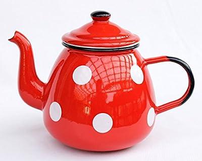 théière 582AB émaillée 14cm eaupot 850 ml. pot Coffee pot émail retro