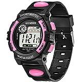 Armbanduhren Mode-Accessoires, Outdoor Multifunktions-Lichtalarm Digital Studenten Quarz-Armbanduhr Geschenk - Rosa