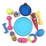 VICTORIE 12 stücke Hund Haustiere Spielzeug Rubber quietschende Kauen Zahnreinigung Fitness Geschenk Set(zufällige Farbe)