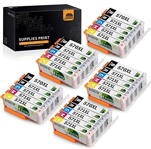JARBO 570XL 571XL Ersatz für Canon PGI-570 XL CLI-571 XL Druckerpatronen hoher Kapazität für Canon PIXMA MG5750 MG5751 MG5752 MG5753 MG6850 MG6851 TS5050 TS5051 TS5053 TS5055 TS6050 TS6051, 25er-Pack