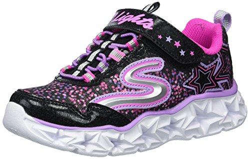 Mädchen Skechers Schuhe 1 Größe (Skechers Galaxy Lights Größe 32 Schwarz (Schwarz Kombi))