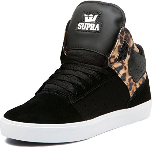 Supra Atom s91005 Baskets mixte adulte schwarz/cheetah/weiss