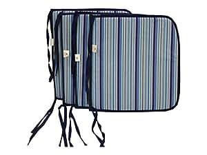 Maffei Art 510 Polster Baumwolle, Sitzung cm.40x40x2. Made in Italy. Dessin bay blau. Set mit 4 Stuecke