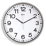 Orium 2116790961 - Reloj silencioso, 30 cm diámetro, color Naranja