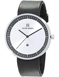 Jacob Jensen Herren-Armbanduhr Analog Quarz Leder 32270