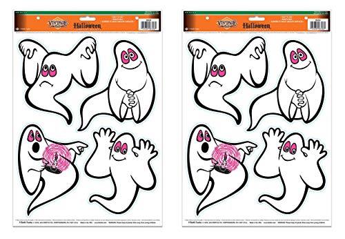 Arteki 00454 Vintage Halloween Ghosts Peel ´N Place 2 Sheets, 12