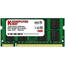 Komputerbay - Memoria SODIMM para portátiles (DDR2, 800 MHz, PC2-6300, 200 pines) 2GB