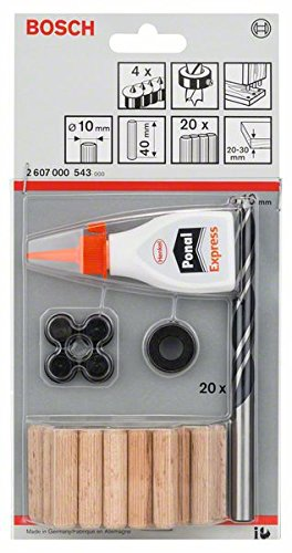 Bosch Professional 27tlg. Holzdübel-Set (Ø 10 mm)