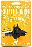 Suck UK Deer Animal Bottle Pourers, Black