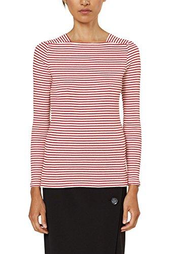 ESPRIT Collection T-Shirt à Manches Longues Femme Blanc (Off White 2 111)