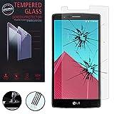 Vcomp - Protector de pantalla de vidrio templado para LG G4, G4Dual-LTE, Dual-SIM y H815, entre...