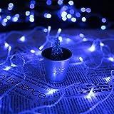 HJ® 600 LEDs 60M Blau LED Lichterkette Weihnachtslichterkette 31V String Außenlichterkette für Xmas Halloween innen&außen Garten