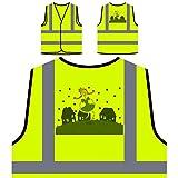 Festa Junina Neues Festgeschenk Personalisierte High Visibility Gelbe Sicherheitsjacke Weste e938v