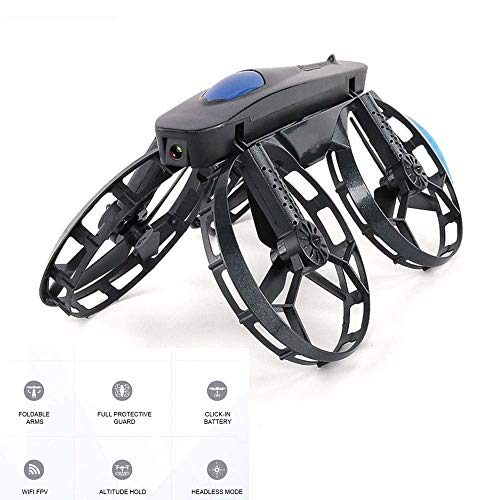 RCDNE Kinder Spielzeug Mini Drohne, LED RC Quadcopter Pocket Drone 720P Fernsteuerungsflugzeug mit Gestensteuerung, Höhenstand, Headless