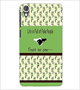 PrintDhaba Quote D-3834 Back Case Cover for HTC DESIRE 820 (Multi-Coloured)