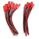 Tecleader - Kit de 10 pares de cables dobles con conexión hembra y macho para batería RC BEC Lipo
