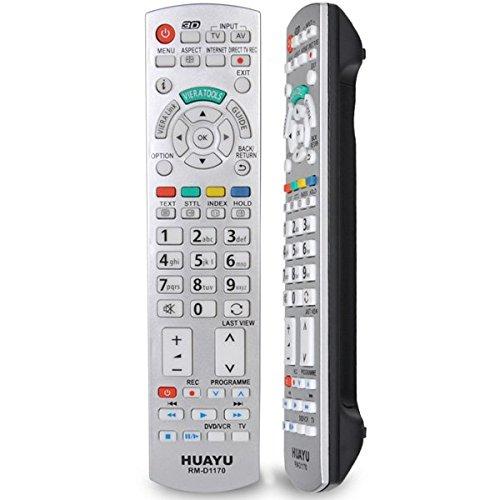Neue Ersatz-Fernbedienung N2QAYB000752Passform für Panasonic LED LCD 3D oder Plasma TVs Model No. Silber rm-d1170
