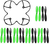AFUNTA Propeller Protection Guard Cover for Hubson X4 H107C H107D Quadcopter and Propeller Props 5x sets Black / Green Propellers for Hubsan X4 H107 H107L H107C H107D Quadcopter