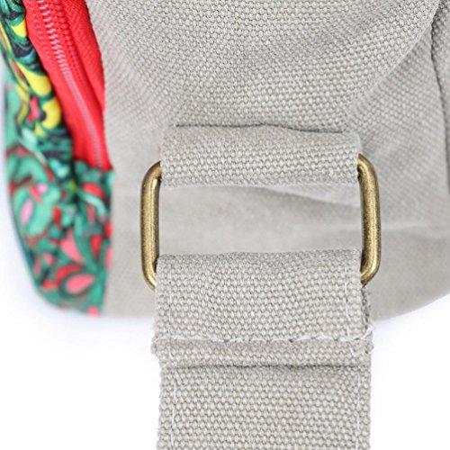 Chang Spent tela di canapa casuale moda stampa borsa tracolla messenger Le nuove donne , M M