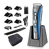 HATTEKER Haarschneider Elektrischer Haartrimmer für Männer Professioneller Haarschneidemaschine Set mit LED-Display und Wiederaufladbare USB für Männer/Kinder