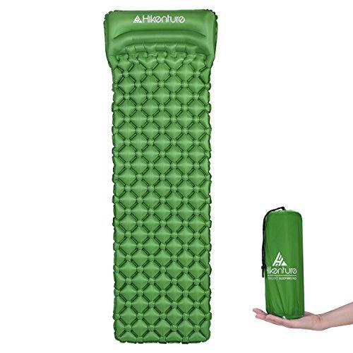 Camping Isomatte Kleines Packmaß von Hikenture® - Ultraleichte Aufblasbare Isomatte - Sleeping Pad für Camping, Reise, Outdoor, Wandern, Strand (Grün)