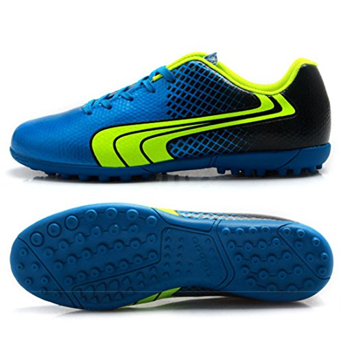 Men's Turf Soles Soccer Chuteira Football Shoes Sky Blue