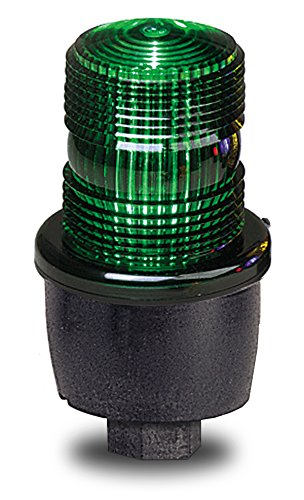 Federal Signal LP3P-120G Streamline Low Profile Strobe Light, Pipe Mount, 120 VAC, Green by Federal Signal