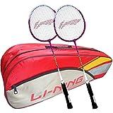 Li-Ning ABDK122 Smash XP 708 Combo (Li-Ning ABDK122 Badminton Kitbag + Li-Ning 708 Badminton Racquet, Set Of 2) - Red Bag