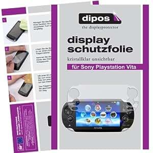 2x Dipos Crystalclear Displayschutzfolie für Sony Playstation Vita PS Vita - jeweils 1x für die Vorder- und Rückseite, konturgenau zugeschnitten,