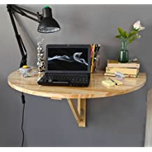 SoBuy Mesa plegable de pared, mesa de cocina, mesa para comer, mueble infantil de madera, FWT10-N Color: naturaleza