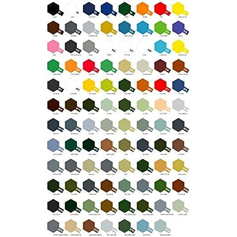 8 Botes de pintura acrílica Tamiya serie X- XF (a elegir de la carta de colores)