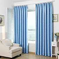 Cortinas de oscurecimiento habitación Blackout aislante térmico, privacidad ventana cortina Panel superior bolsillo sólido Drapes cortinas para dormitorio sala de estar