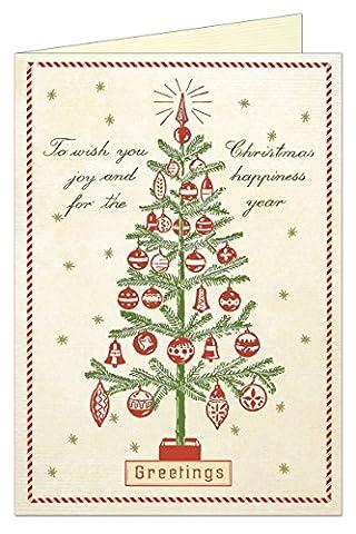 Cavallini Postkartenset Weihnachtsgrüße mit dem Text