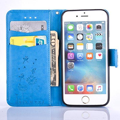 PU für Apple iPhone 6 Plus (5.5 Zoll) Hülle,Löwenzahn Handyhülle / Tasche / Cover / Case für das Apple iPhone 6 Plus (5.5 Zoll) PU Leder Flip Cover Leder Hülle Kunstleder Folio Schutzhülle Wallet Tasc 9