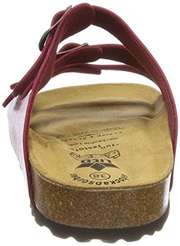 Lico Bioline Lady Soft, Pantofole a Collo Basso Donna Rosso (Bordeaux Bordeaux)
