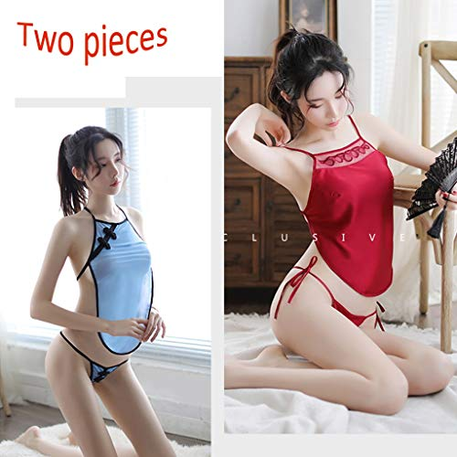 CZTC Cosplay Kleidung Sexy Chinesischen Stil Unterwäsche Overall Für Leidenschaft Zu Tease Versuchung Transparent Erwachsene (zweiteiliges - Tease Sexy Kostüm