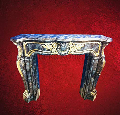 Deko-König Medusa Kamineumrandung Kamin Umrandung im Barockstil mit Deko-Säulen Kamin Umbau Barock 3D (1840 k 128)