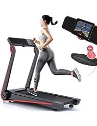 Sportstech F17 Tapis de Course Electrique Pliable Professionnel, Console futuriste, 2.5PS, 12 KM/H, système de Lubrification, Ceinture Cardio (Valeur 39,90 €) Incluse, app Smartphone,MP3