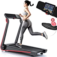Preisvergleich für Sportstech F17 Edles Laufband mit App und Easy-Folding System kein Aufbau nötig, Schmiersystem, 12 KM/H, 2.5PS, Pulsgurt Inklusive, Tablet-Holder, Heimtrainer, klappbar für Cardio-Training Zuhause
