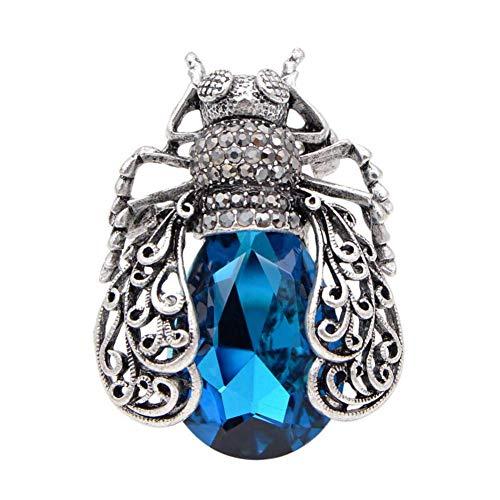 CCJIAC 3 Farben Wählen Kristall Bug Broschen Für Frauen Vintage Fashion Käfer Pins Aushöhlen Stil Brosche Hohe Qualität
