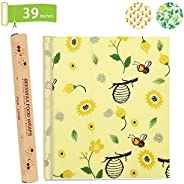 Beeswax Food Wrap - Roll (13 x 39'') Reusable Beeswax Wrap | Sustainable Food Storage | Sandwiches, Ch